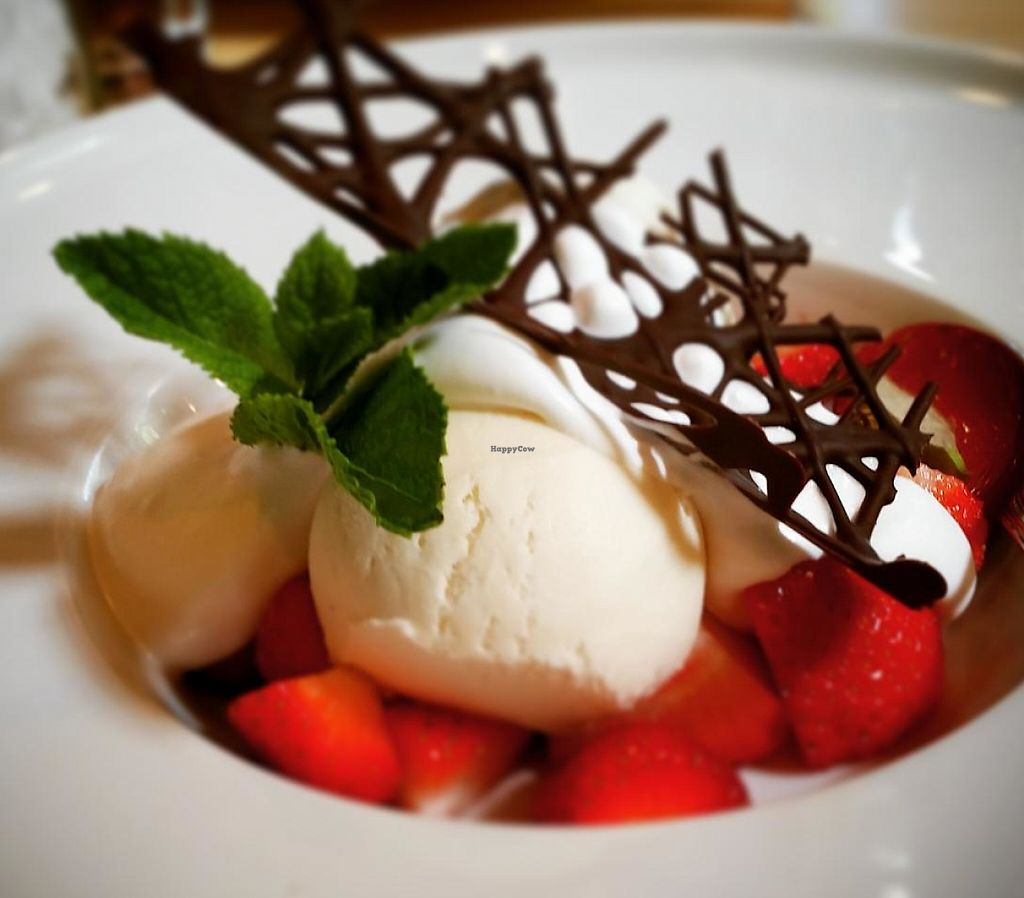 """Photo of The Green Room  by <a href=""""/members/profile/LucidDreams"""">LucidDreams</a> <br/>Soy ice cream with fresh strawberries and whipped soy cream :D <br/> May 26, 2015  - <a href='/contact/abuse/image/58770/244082'>Report</a>"""