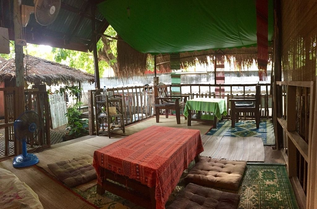 """Photo of CLOSED: Bodhi Tree Cafe  by <a href=""""/members/profile/peterstuckings"""">peterstuckings</a> <br/>Seating in the garden <br/> October 22, 2016  - <a href='/contact/abuse/image/58775/183513'>Report</a>"""