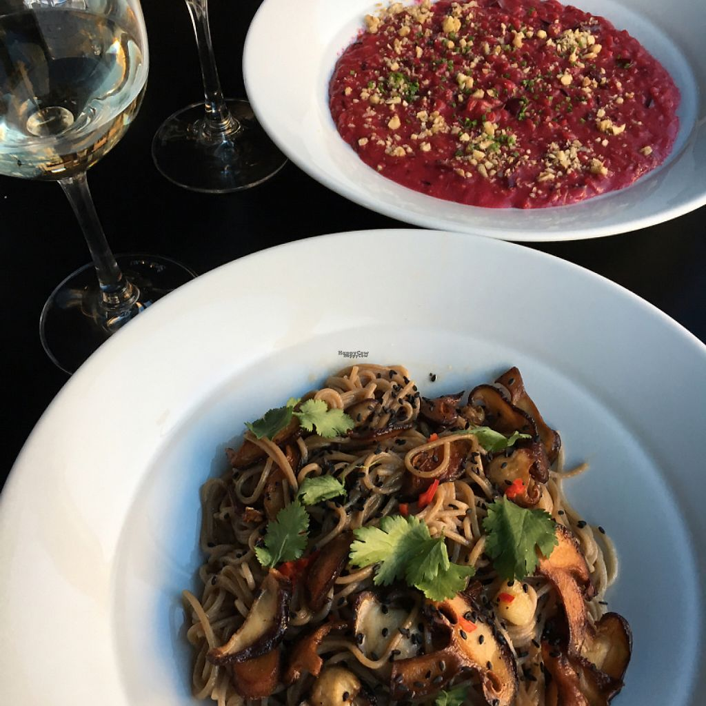 "Photo of Cargo Coffee and Kitchen  by <a href=""/members/profile/SeitanSeitanSeitan"">SeitanSeitanSeitan</a> <br/>Shiitake noodles and beetroot risotto <br/> April 12, 2017  - <a href='/contact/abuse/image/58802/247323'>Report</a>"