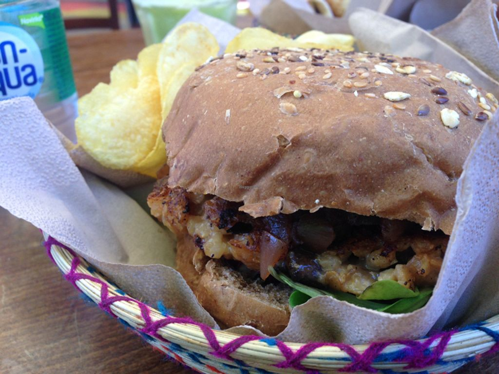 """Photo of Juuls Kitchen  by <a href=""""/members/profile/MichaelaSojak"""">MichaelaSojak</a> <br/>Mushroom burger  <br/> August 1, 2015  - <a href='/contact/abuse/image/58813/111769'>Report</a>"""