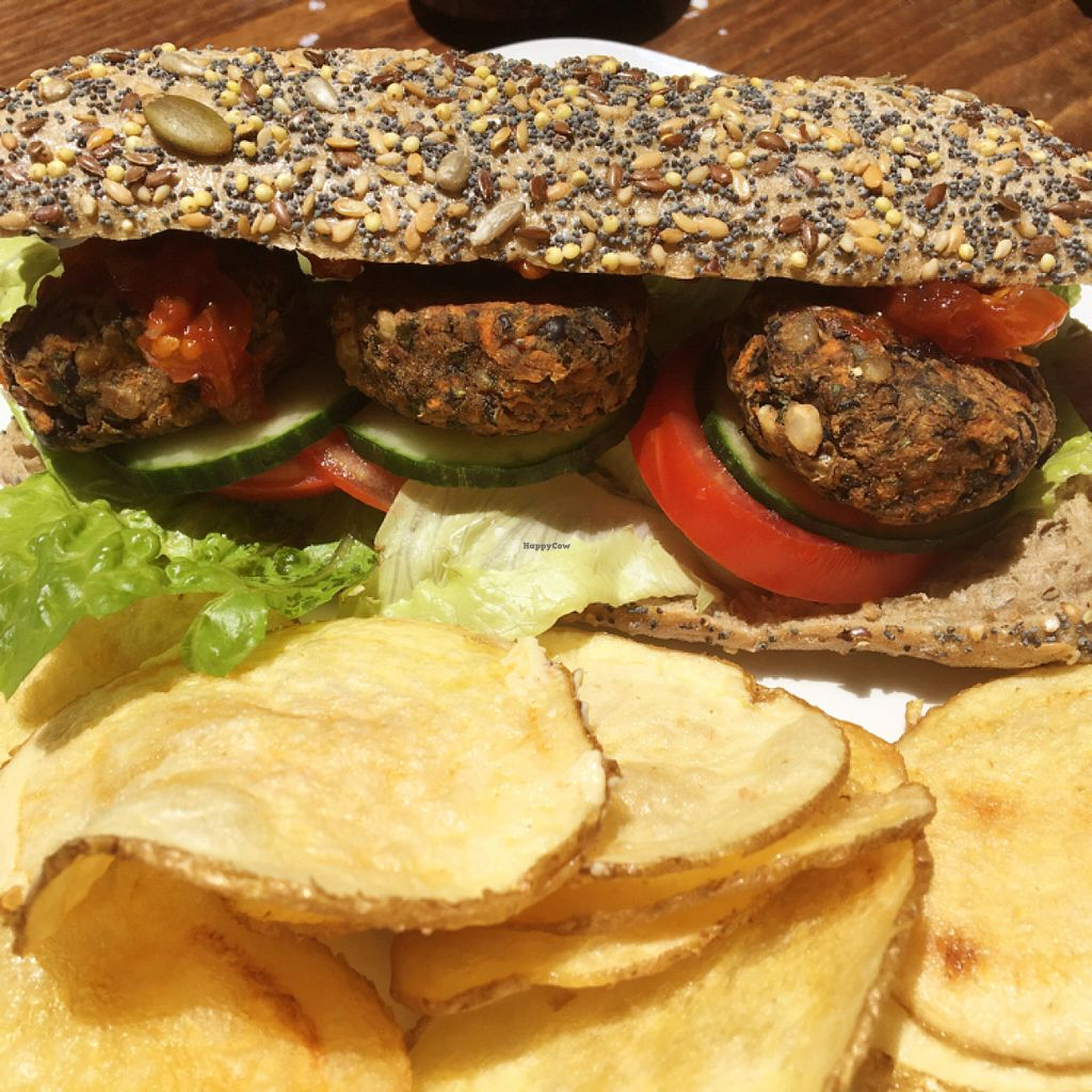 """Photo of Juuls Kitchen  by <a href=""""/members/profile/Vegangypsy"""">Vegangypsy</a> <br/>Blackbean burger  <br/> July 16, 2016  - <a href='/contact/abuse/image/58813/160164'>Report</a>"""