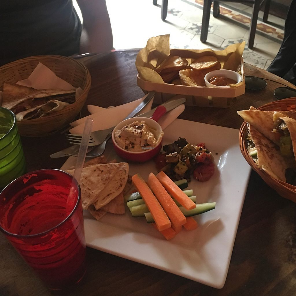 """Photo of Juuls Kitchen  by <a href=""""/members/profile/VeeK"""">VeeK</a> <br/>quesadillas, hummus dip & crisps <br/> May 13, 2017  - <a href='/contact/abuse/image/58813/258493'>Report</a>"""