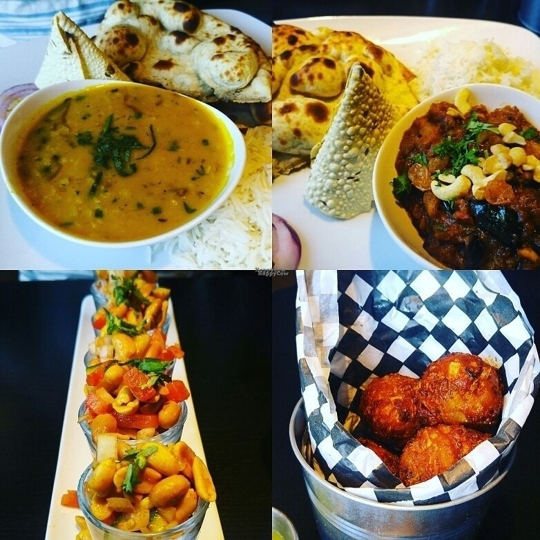 """Photo of Moksha Indian Bistro  by <a href=""""/members/profile/3blackcats123"""">3blackcats123</a> <br/>lentil soup, eggplant, peanut shooters <br/> September 11, 2016  - <a href='/contact/abuse/image/58824/174970'>Report</a>"""