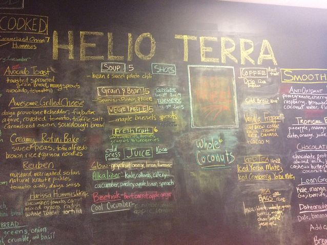 """Photo of Helio Terra Vegan Cafe  by <a href=""""/members/profile/Bee202"""">Bee202</a> <br/>Wall of goodness ??? <br/> October 28, 2016  - <a href='/contact/abuse/image/58848/184960'>Report</a>"""
