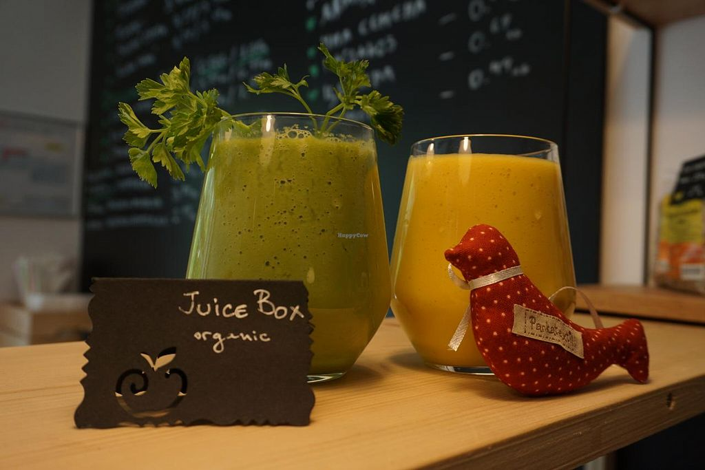 """Photo of JuiceBox  by <a href=""""/members/profile/victoriamutafis"""">victoriamutafis</a> <br/>Fresh cold pressed organic juices and velvet smoothies <br/> June 1, 2015  - <a href='/contact/abuse/image/58878/104381'>Report</a>"""