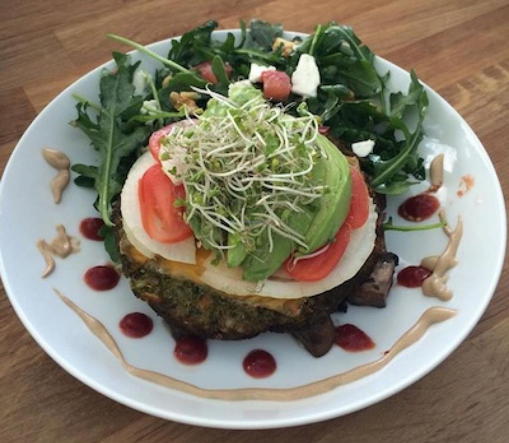"Photo of Basimo Beach Cafe  by <a href=""/members/profile/GigiDawson"">GigiDawson</a> <br/>Amazing Veggie Burger - Yumm <br/> July 9, 2015  - <a href='/contact/abuse/image/58914/108702'>Report</a>"