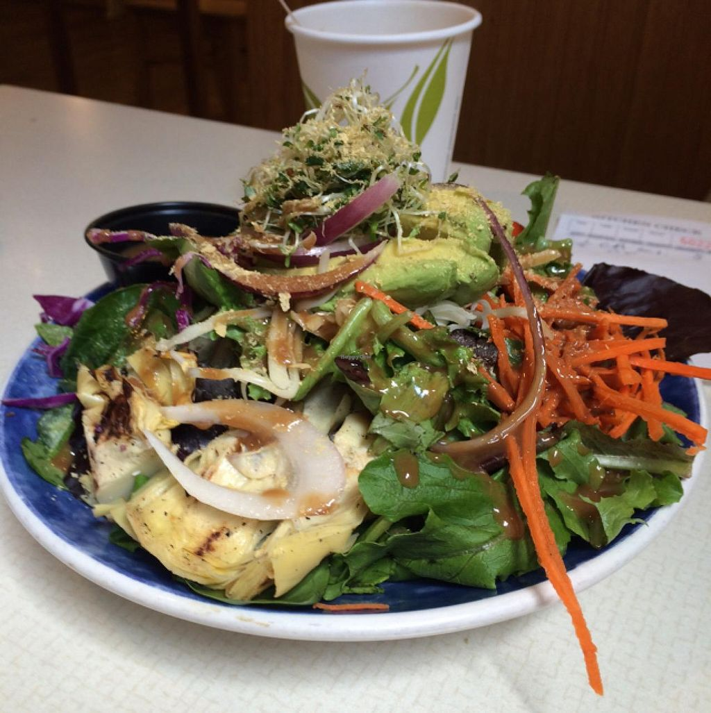 "Photo of Healthy Foods Co-op Market and Cafe  by <a href=""/members/profile/Green_T"">Green_T</a> <br/>California salad (half) with nooch! <br/> July 23, 2015  - <a href='/contact/abuse/image/58925/110576'>Report</a>"