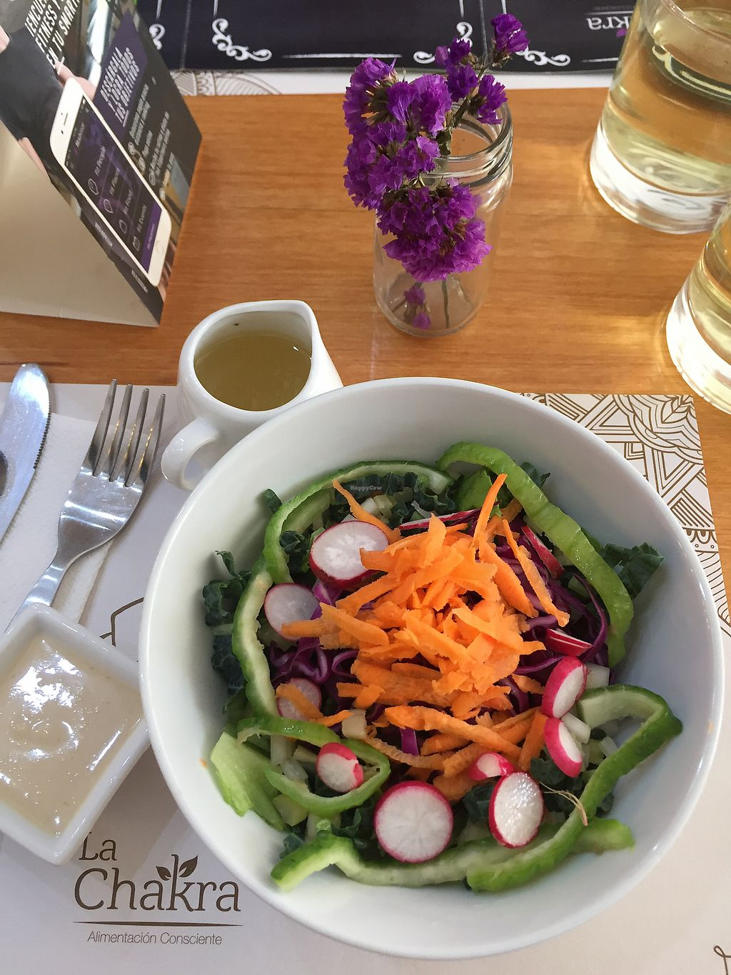 """Photo of CLOSED: La Chakra  by <a href=""""/members/profile/Dianebg"""">Dianebg</a> <br/>Raw salad and dressing  <br/> November 7, 2017  - <a href='/contact/abuse/image/58930/323104'>Report</a>"""