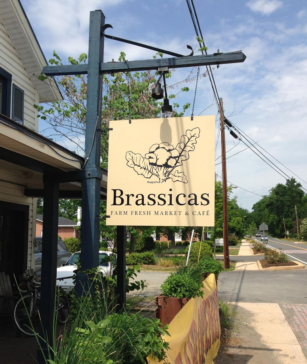 "Photo of Brassicas Farm Fresh Market and Cafe  by <a href=""/members/profile/Alysoun%20Mahoney"">Alysoun Mahoney</a> <br/>Brassicas - Aldie VA USA - Cafe Entrance <br/> June 20, 2015  - <a href='/contact/abuse/image/58951/106604'>Report</a>"