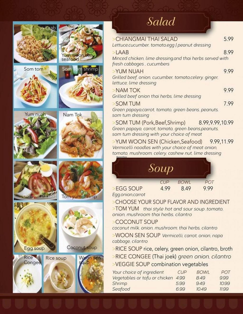 """Photo of REMOVED: Chiangmai Thai Kitchen  by <a href=""""/members/profile/JeedSripakdee"""">JeedSripakdee</a> <br/>Soups and salads  <br/> June 1, 2015  - <a href='/contact/abuse/image/58954/104458'>Report</a>"""