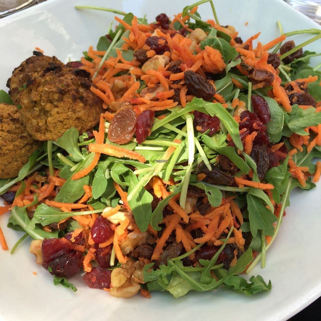 """Photo of Nanoosh  by <a href=""""/members/profile/the.friendly.fig"""">the.friendly.fig</a> <br/>Arugula Salad with Baked Quinoa Falafel  <br/> August 12, 2016  - <a href='/contact/abuse/image/58978/168002'>Report</a>"""