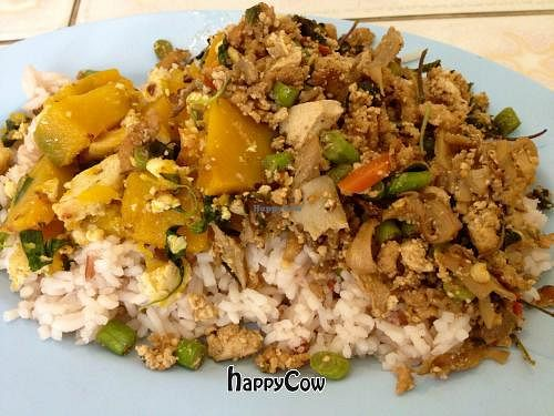 """Photo of Jao Ngoa - Chao Ngo - maybe closed  by <a href=""""/members/profile/RawVeganFruitarian"""">RawVeganFruitarian</a> <br/>Lovely pumpkin dish and a soy 'meat' dish <br/> February 21, 2013  - <a href='/contact/abuse/image/5897/44450'>Report</a>"""