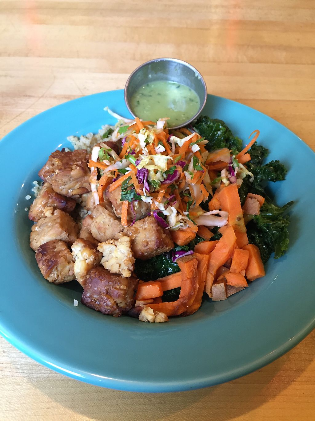"""Photo of Laughing Planet Cafe  by <a href=""""/members/profile/LinnDaugherty"""">LinnDaugherty</a> <br/>harvest bowl $9 <br/> June 26, 2017  - <a href='/contact/abuse/image/58981/273469'>Report</a>"""