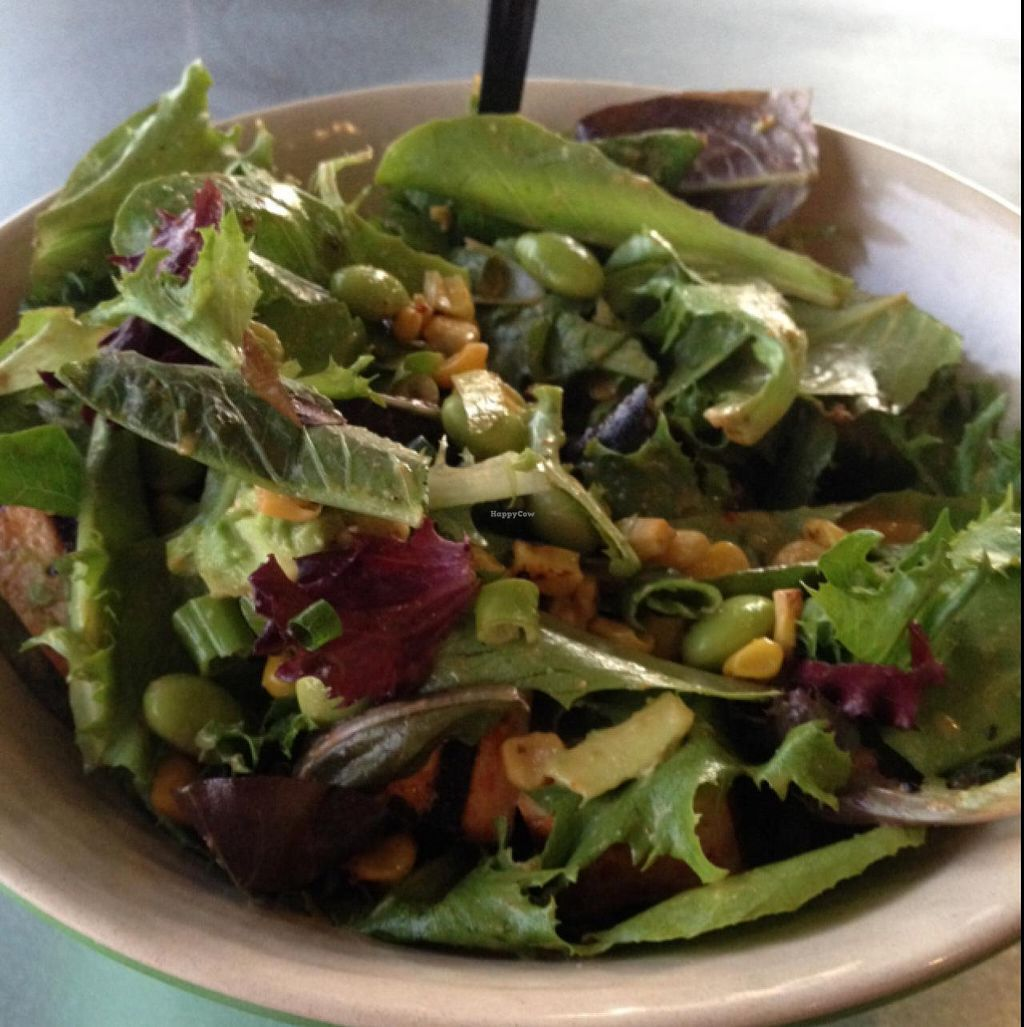 """Photo of MAD Greens  by <a href=""""/members/profile/Tigra220"""">Tigra220</a> <br/>large salad with baby greens, roasted corn, green onion, edamame, & avocado  <br/> June 23, 2015  - <a href='/contact/abuse/image/59006/107151'>Report</a>"""
