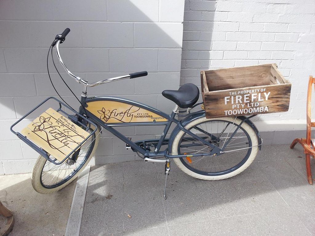 "Photo of Little Seed by Firefly  by <a href=""/members/profile/necius"">necius</a> <br/>Decorative bike at The Firefly Café.  <br/> June 12, 2015  - <a href='/contact/abuse/image/59016/105685'>Report</a>"