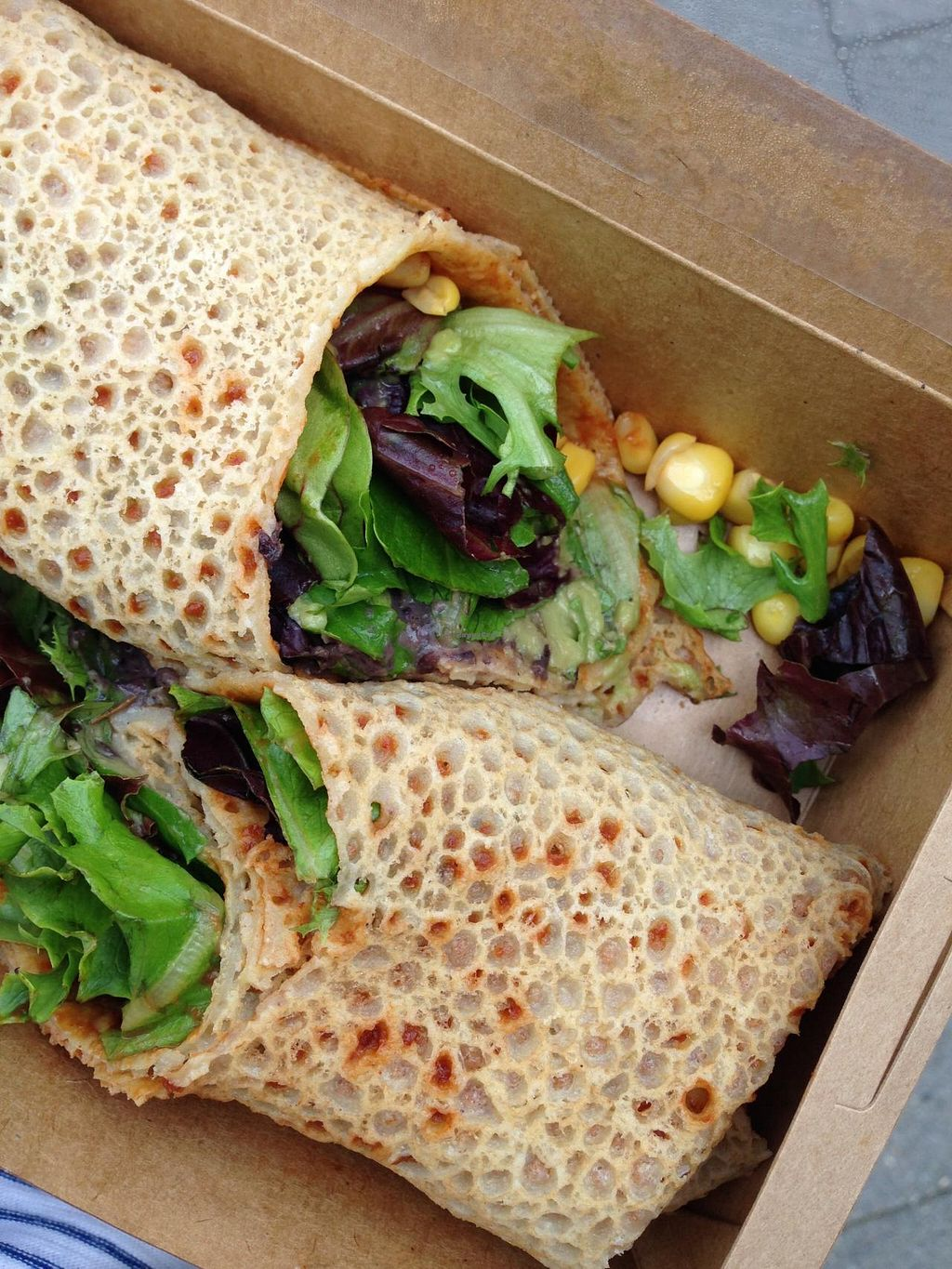 """Photo of CLOSED: VIDA  by <a href=""""/members/profile/veganxsophie"""">veganxsophie</a> <br/>vegan and gluten free S.Gonzales wrap <br/> July 9, 2015  - <a href='/contact/abuse/image/59025/108680'>Report</a>"""