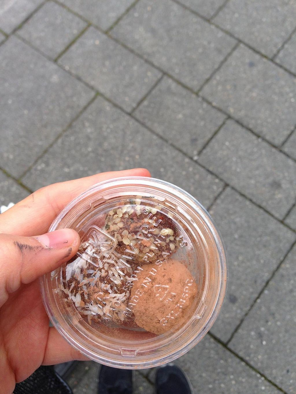 """Photo of CLOSED: VIDA  by <a href=""""/members/profile/veganxsophie"""">veganxsophie</a> <br/>vegan date balls with coconut, cacao and hemp seeds <br/> July 9, 2015  - <a href='/contact/abuse/image/59025/108682'>Report</a>"""