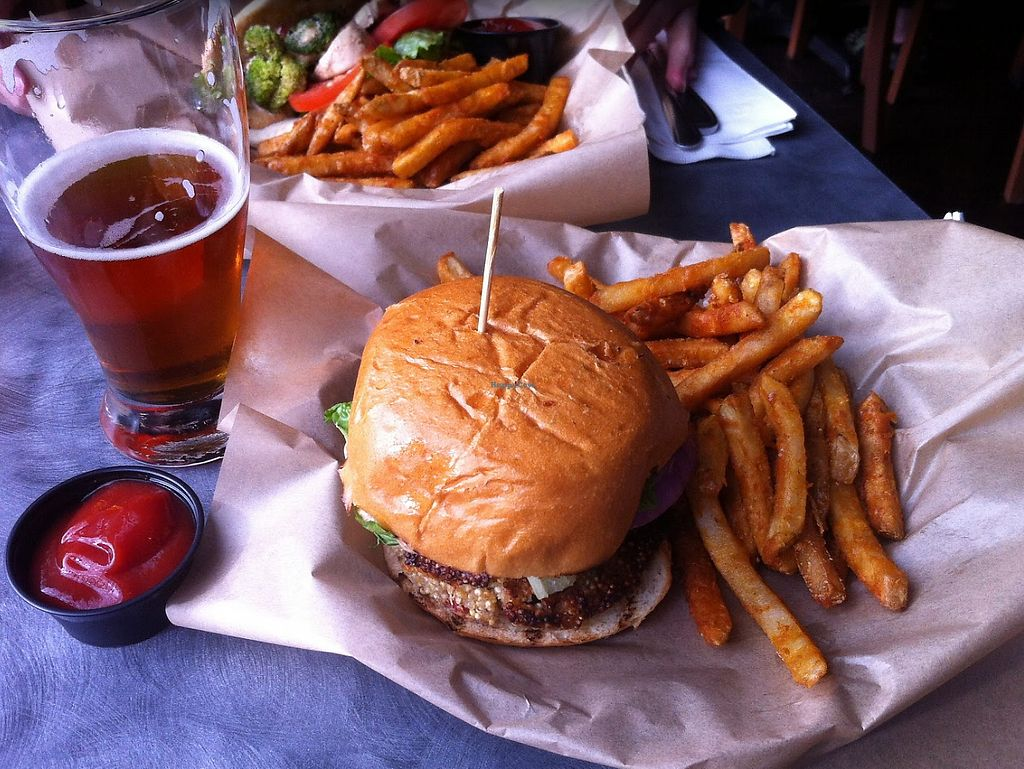 """Photo of Manitou Brewing Company  by <a href=""""/members/profile/xavierfretard"""">xavierfretard</a> <br/>Quinoa Burger <br/> January 5, 2018  - <a href='/contact/abuse/image/59031/343278'>Report</a>"""