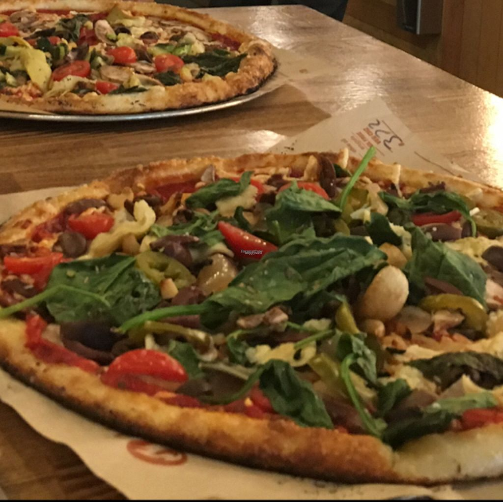 """Photo of Blaze Pizza  by <a href=""""/members/profile/Pips"""">Pips</a> <br/>Vegan Pizza with Daiya Cheese <br/> August 5, 2016  - <a href='/contact/abuse/image/59036/165591'>Report</a>"""