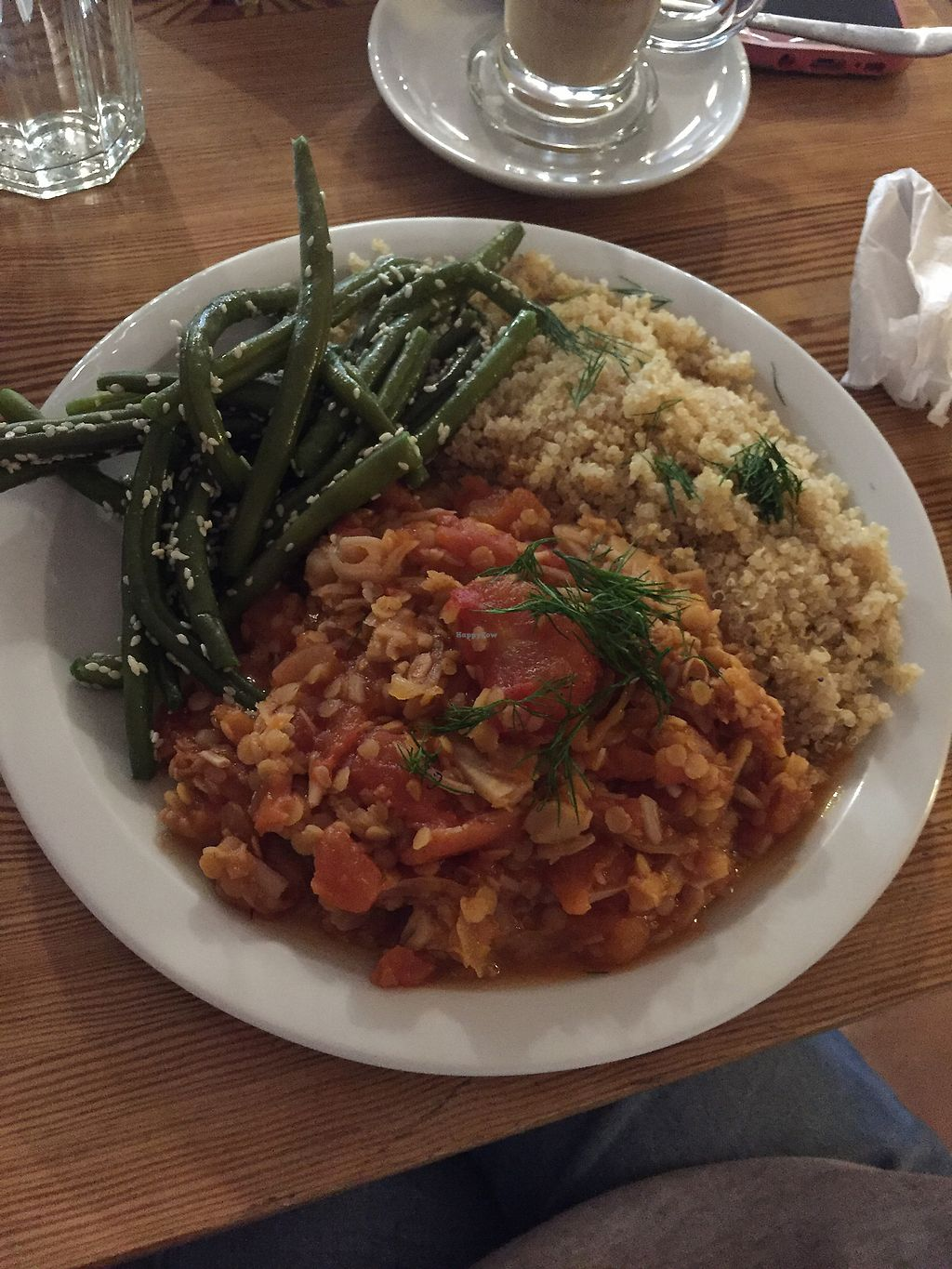 """Photo of Korzenie   by <a href=""""/members/profile/farucha"""">farucha</a> <br/>Lentil stew with quinoa and sesame green beans <br/> September 2, 2017  - <a href='/contact/abuse/image/59043/299976'>Report</a>"""