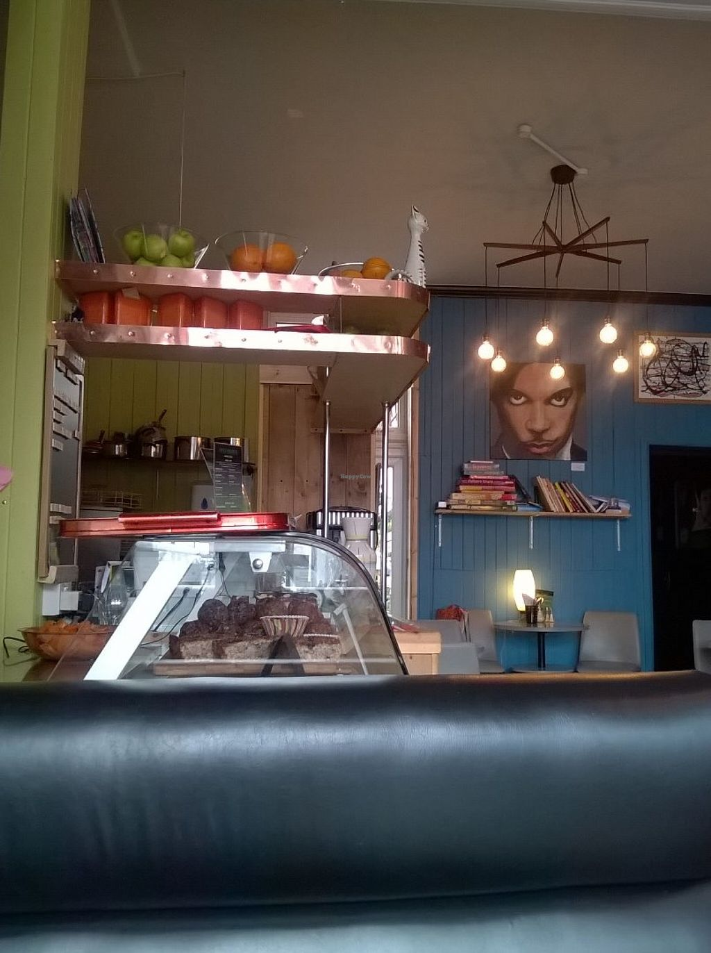 """Photo of Pulp Fiction Future Food and Juice Cafe  by <a href=""""/members/profile/deadpledge"""">deadpledge</a> <br/>Inside décor and cake counter <br/> June 16, 2016  - <a href='/contact/abuse/image/59089/154266'>Report</a>"""