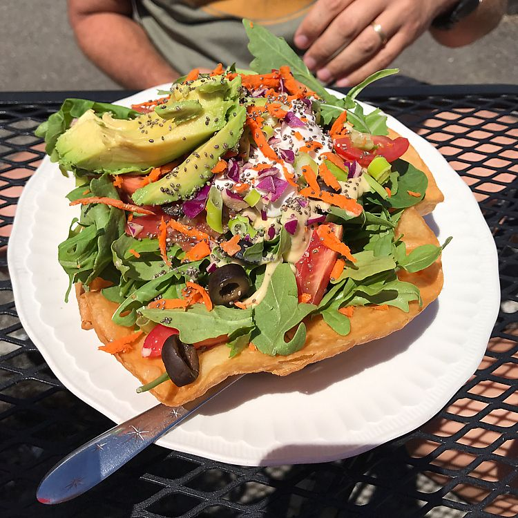 "Photo of DJ's Vinyl Vegan - Food Trailer  by <a href=""/members/profile/tiffrob"">tiffrob</a> <br/>tostada <br/> June 25, 2017  - <a href='/contact/abuse/image/59106/273405'>Report</a>"