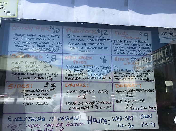 "Photo of DJ's Vinyl Vegan - Food Trailer  by <a href=""/members/profile/tiffrob"">tiffrob</a> <br/>menu board <br/> June 25, 2017  - <a href='/contact/abuse/image/59106/273406'>Report</a>"
