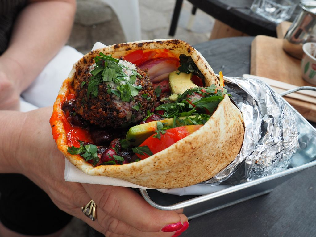 """Photo of CLOSED: Jaffa - Hummus and Other Stories  by <a href=""""/members/profile/AgataAgathe"""">AgataAgathe</a> <br/>Pita <br/> August 13, 2016  - <a href='/contact/abuse/image/59109/168342'>Report</a>"""