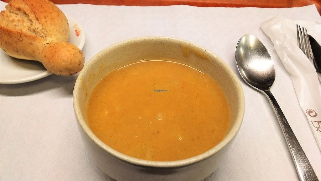 """Photo of Salpicos Verdes  by <a href=""""/members/profile/Anticopy"""">Anticopy</a> <br/>Veggie soup + bread <br/> June 18, 2017  - <a href='/contact/abuse/image/59143/270439'>Report</a>"""