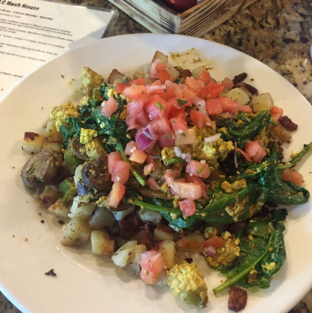 """Photo of CLOSED: The Loving Cup Hash House  by <a href=""""/members/profile/Heffpilot"""">Heffpilot</a> <br/>Tofu Scramble <br/> August 2, 2016  - <a href='/contact/abuse/image/59176/164607'>Report</a>"""
