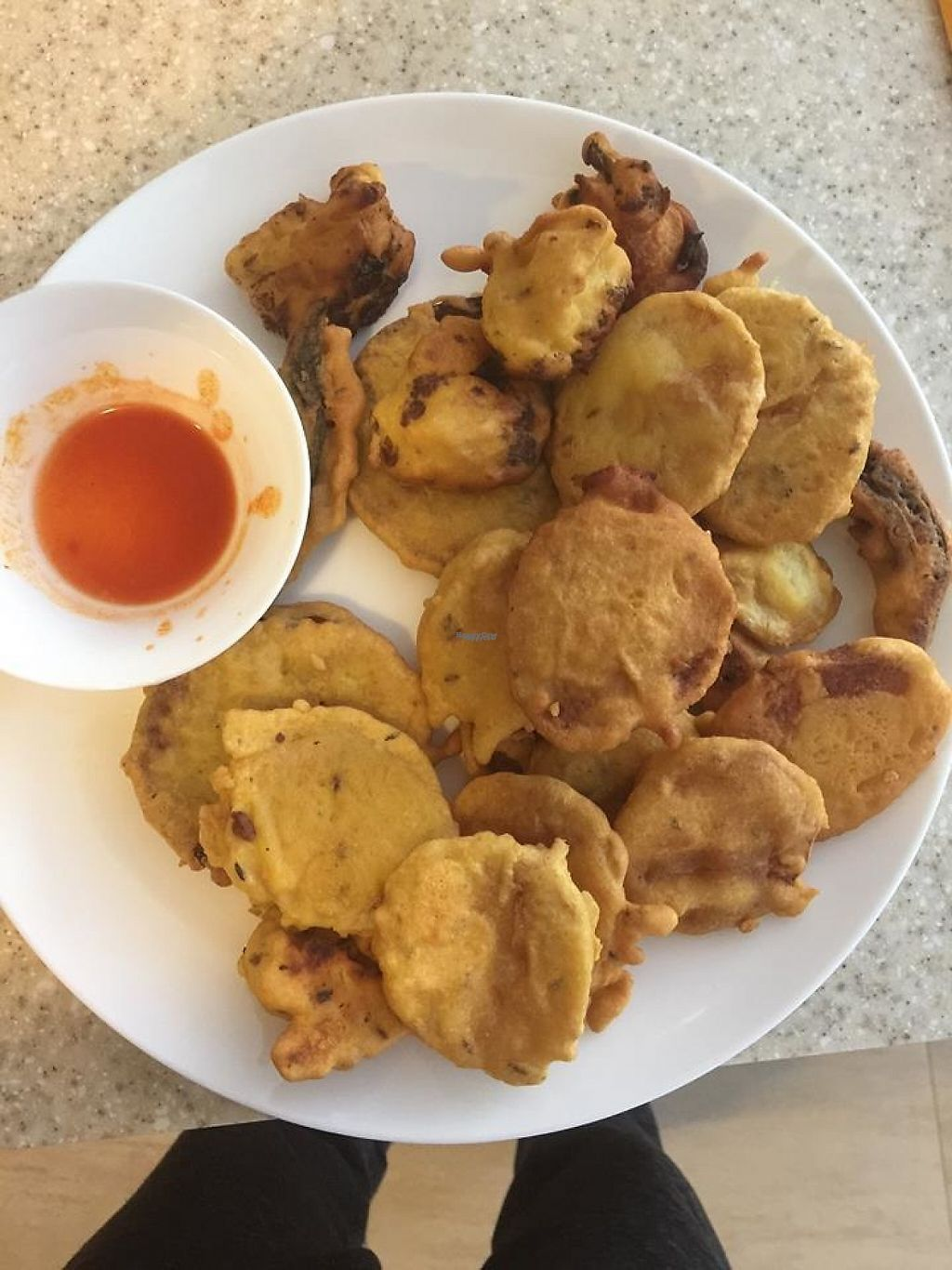 """Photo of Blue Caterpillar Vegan Cafe   by <a href=""""/members/profile/community"""">community</a> <br/>vegan pakora  <br/> December 15, 2016  - <a href='/contact/abuse/image/59182/201351'>Report</a>"""