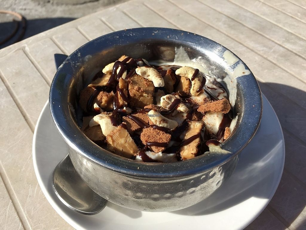 """Photo of Blue Caterpillar Vegan Cafe   by <a href=""""/members/profile/BadassJB"""">BadassJB</a> <br/>Hello to the King (Cashew Ice Cream /Snickers Bar) <br/> April 13, 2017  - <a href='/contact/abuse/image/59182/247467'>Report</a>"""