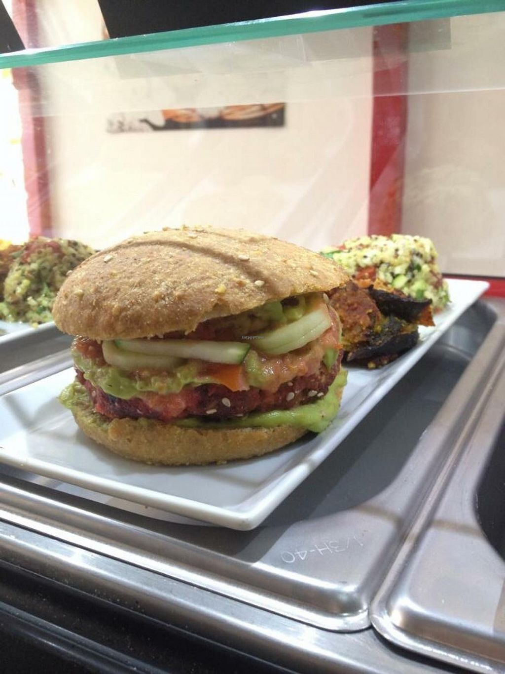 """Photo of CLOSED: BioKarma  by <a href=""""/members/profile/TodoBio"""">TodoBio</a> <br/>VegBurger with home-made organic Bread  <br/> June 11, 2015  - <a href='/contact/abuse/image/59187/105480'>Report</a>"""