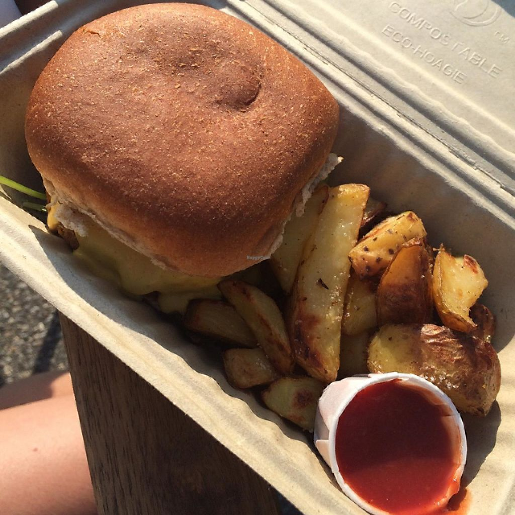 """Photo of Amor - Catering  by <a href=""""/members/profile/Dogs429"""">Dogs429</a> <br/>sweet potato burger <br/> June 8, 2015  - <a href='/contact/abuse/image/59195/191448'>Report</a>"""