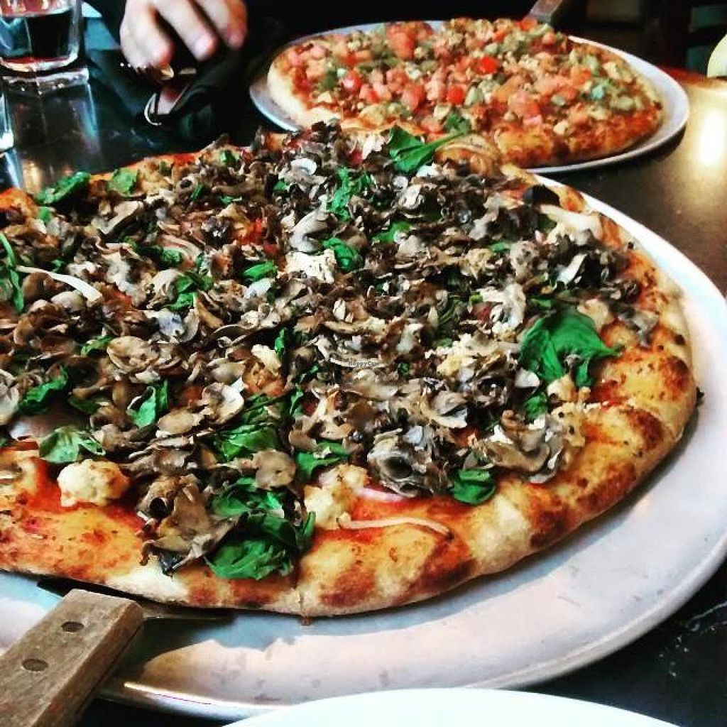 """Photo of Salvatore's   by <a href=""""/members/profile/QuothTheRaven"""">QuothTheRaven</a> <br/>Vegan pizzas <br/> June 8, 2015  - <a href='/contact/abuse/image/59197/105155'>Report</a>"""