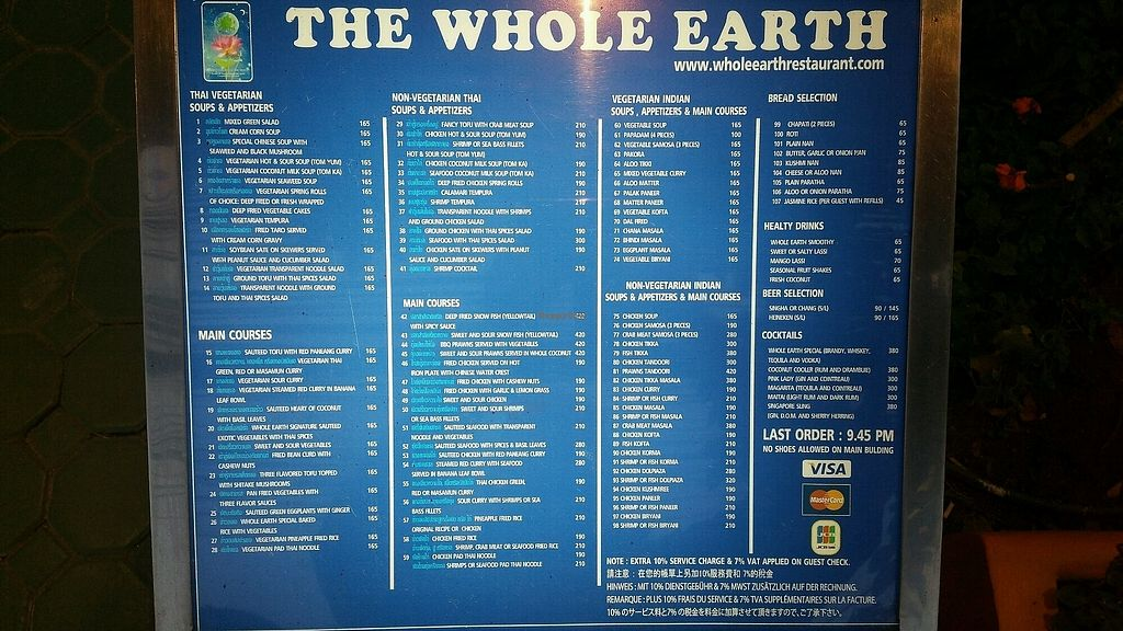 """Photo of The Whole Earth  by <a href=""""/members/profile/Mike%20Munsie"""">Mike Munsie</a> <br/>front stand menu <br/> February 24, 2018  - <a href='/contact/abuse/image/5919/363167'>Report</a>"""