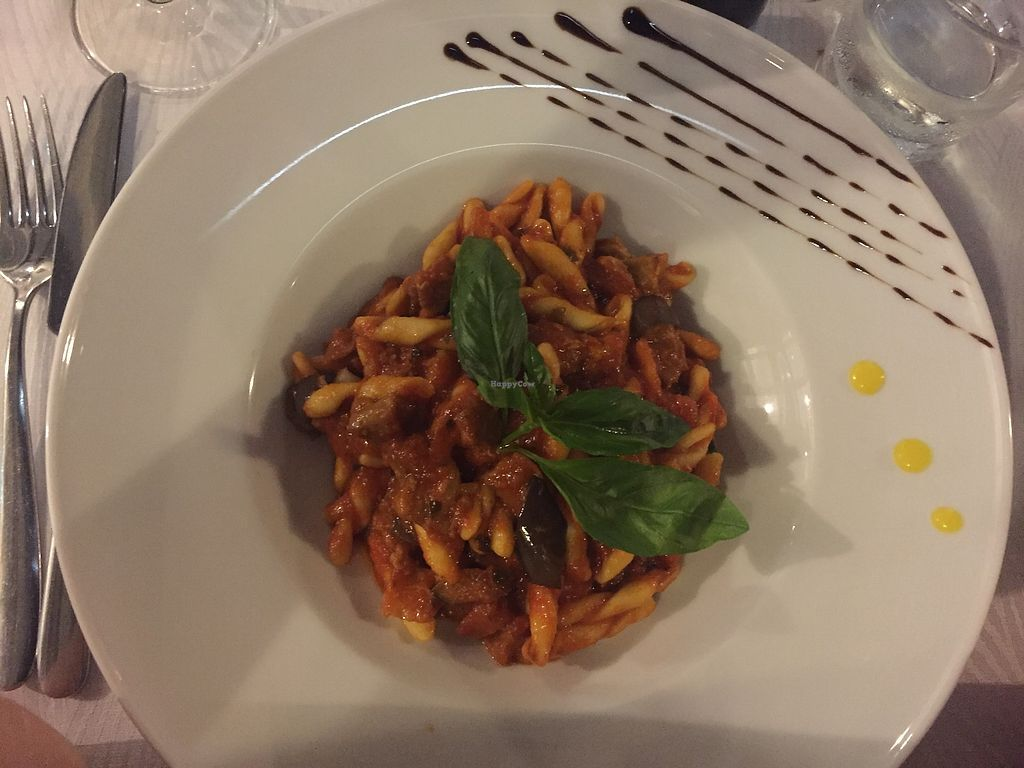 "Photo of La Zagara  by <a href=""/members/profile/lmd06"">lmd06</a> <br/>Aubergine and tomato pasta <br/> August 9, 2017  - <a href='/contact/abuse/image/59206/290710'>Report</a>"