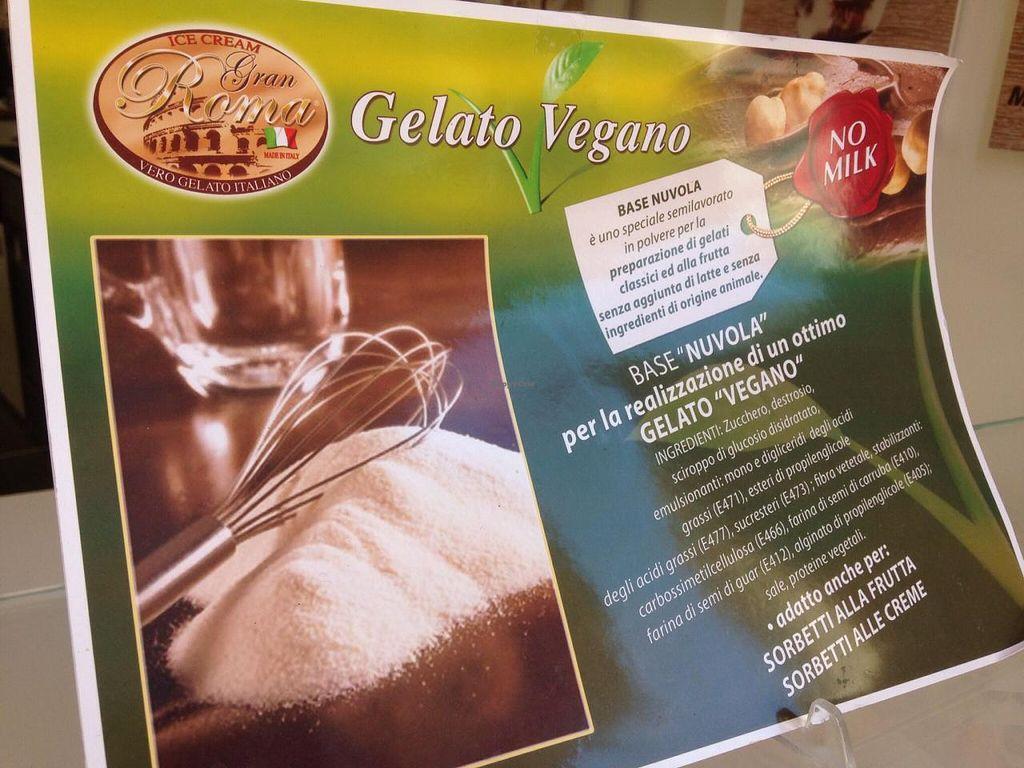 "Photo of Gelateria al Pozzo  by <a href=""/members/profile/lblackno1"">lblackno1</a> <br/>Poster for vegan gelato <br/> June 8, 2015  - <a href='/contact/abuse/image/59224/105132'>Report</a>"
