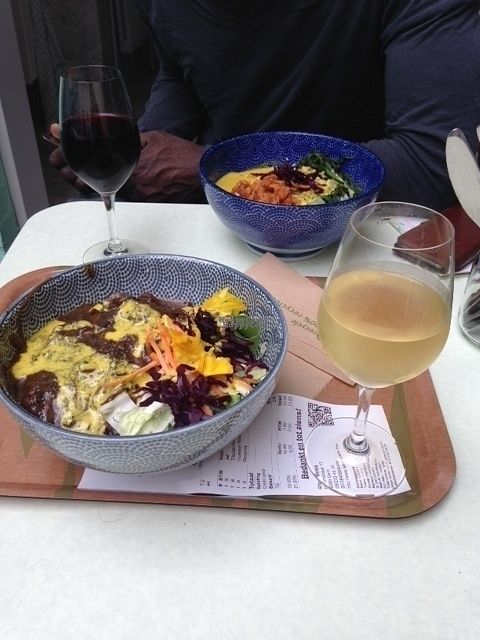 """Photo of Le Botaniste  by <a href=""""/members/profile/Maritseetkamer"""">Maritseetkamer</a> <br/>delicious bowl-dishes and beautifull vin naturel <br/> September 4, 2016  - <a href='/contact/abuse/image/59241/173535'>Report</a>"""