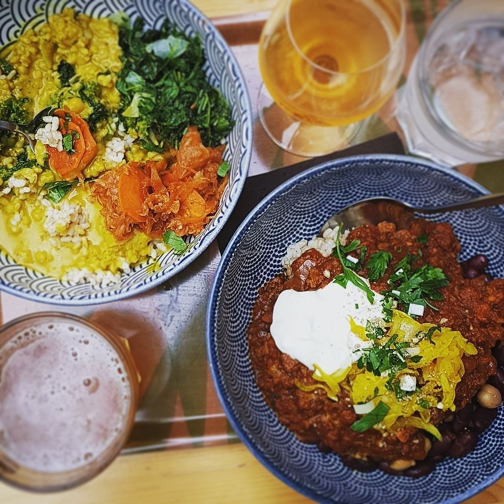 """Photo of Le Botaniste  by <a href=""""/members/profile/danieldelnaaij"""">danieldelnaaij</a> <br/>curry(L) spicy chili (R)  <br/> July 29, 2017  - <a href='/contact/abuse/image/59241/286352'>Report</a>"""