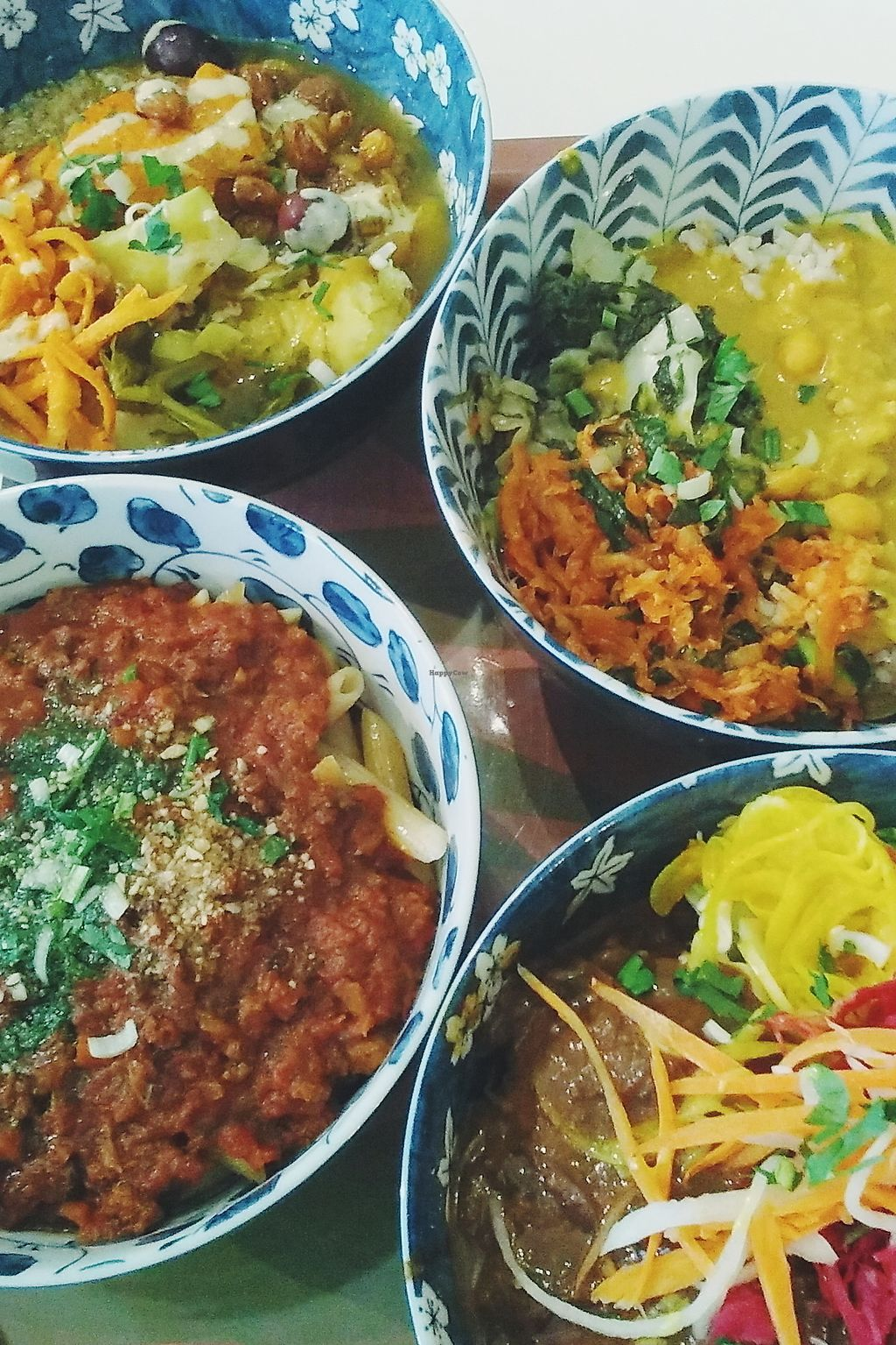 """Photo of Le Botaniste  by <a href=""""/members/profile/unmond"""">unmond</a> <br/>clockwise from the top: vegetable tajine, tibetan mama, jeff, pasta al mafiosi <br/> August 19, 2017  - <a href='/contact/abuse/image/59241/294176'>Report</a>"""