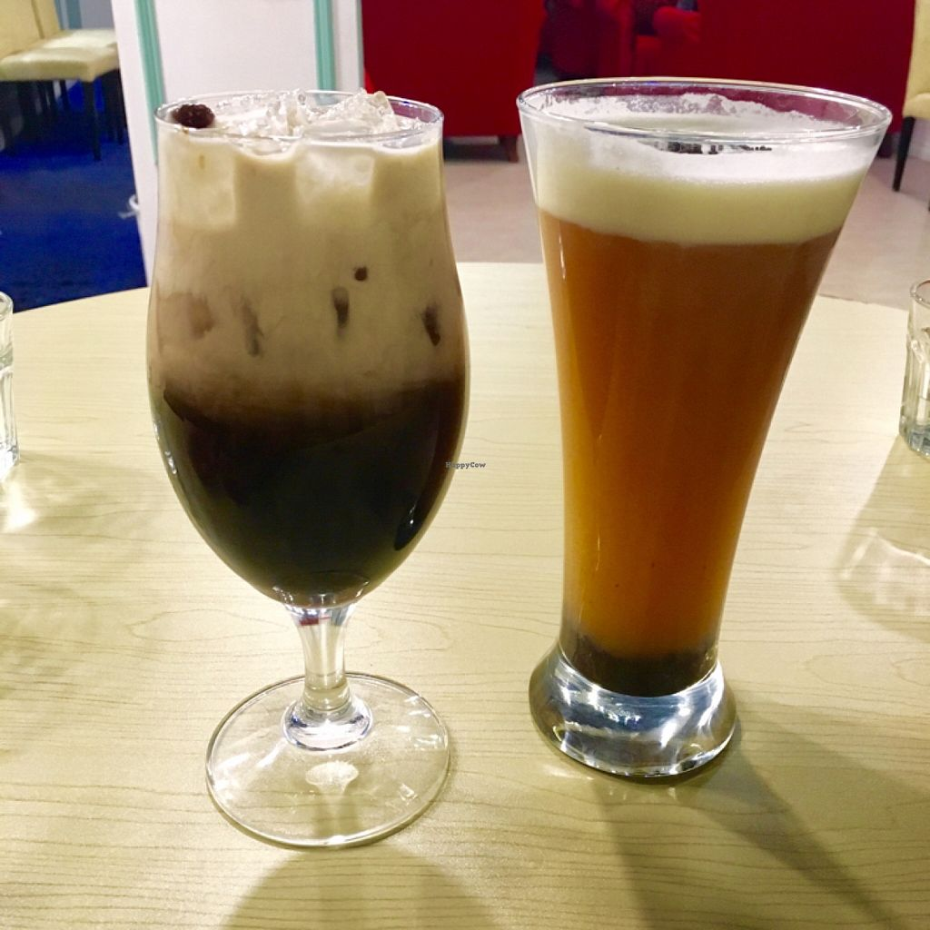 """Photo of Gama Cafe  by <a href=""""/members/profile/Rhoxxy"""">Rhoxxy</a> <br/>Taiwanese bubble tea & Potted green tea cap..Perfect for winter! ❄️ <br/> January 9, 2016  - <a href='/contact/abuse/image/59270/131659'>Report</a>"""