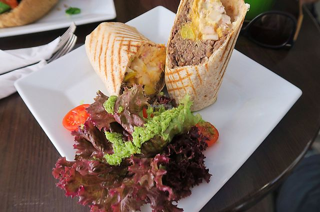 """Photo of CLOSED: The Grassy Hopper   by <a href=""""/members/profile/StephVHe"""">StephVHe</a> <br/>Vegan Wrap  <br/> June 9, 2017  - <a href='/contact/abuse/image/59283/267223'>Report</a>"""