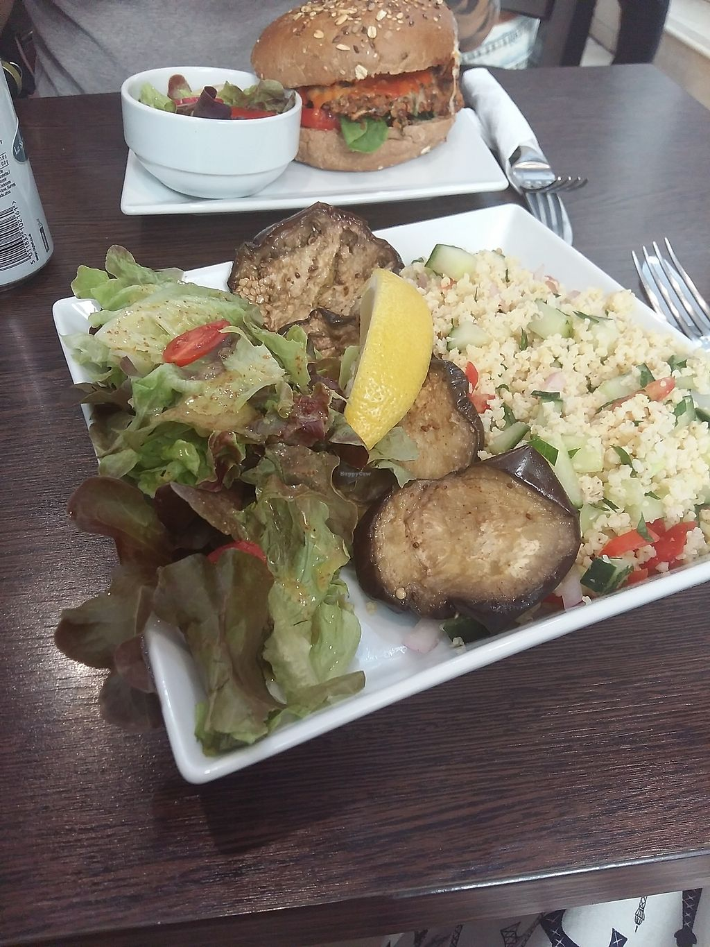 """Photo of CLOSED: The Grassy Hopper   by <a href=""""/members/profile/ninaframbuesa"""">ninaframbuesa</a> <br/>The eggplant was great, but this has nothing to do with tabbouleh <br/> August 5, 2017  - <a href='/contact/abuse/image/59283/289217'>Report</a>"""