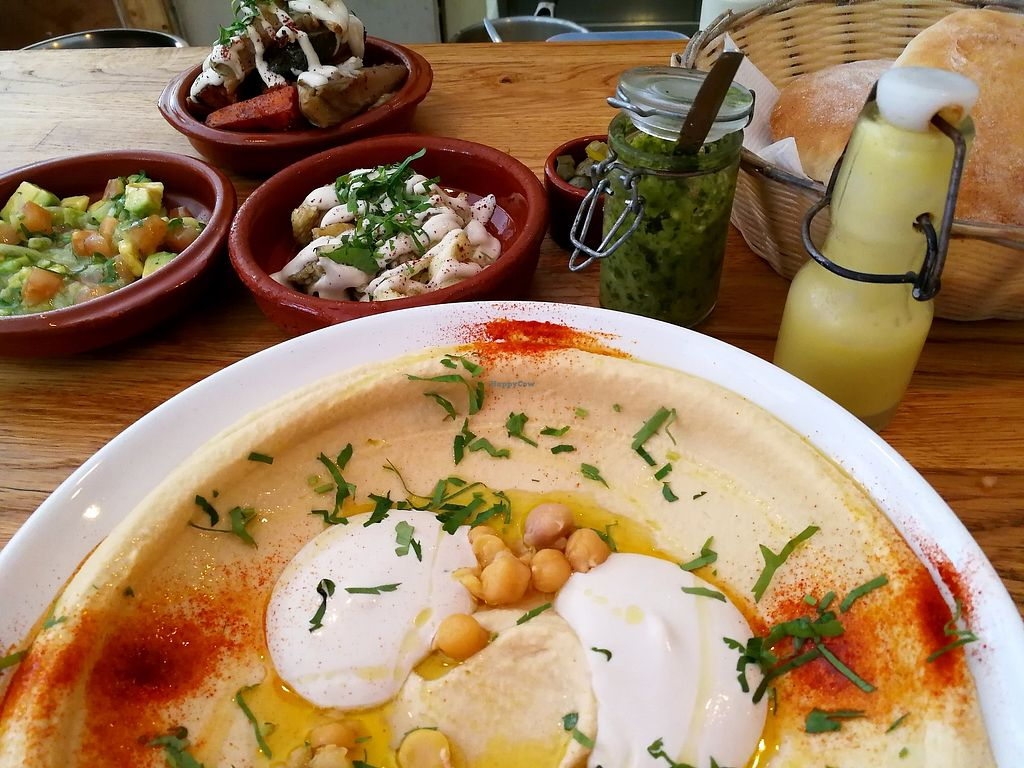 """Photo of De Hummus House - Sint Antoniesbreestraat  by <a href=""""/members/profile/Gudrun"""">Gudrun</a> <br/>Delicious hummus! <br/> November 5, 2017  - <a href='/contact/abuse/image/59292/322112'>Report</a>"""