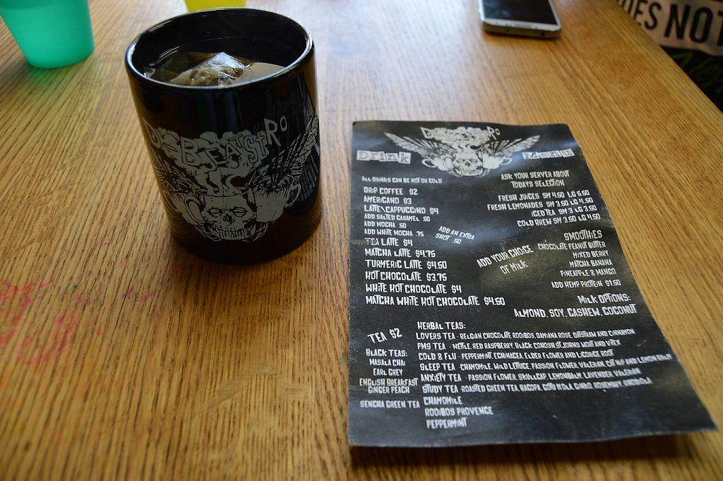 "Photo of REMOVED: D-Beatstro  by <a href=""/members/profile/Vegan%20GiGi"">Vegan GiGi</a> <br/>Drinks menu and mug at D-Beatstro <br/> November 8, 2016  - <a href='/contact/abuse/image/59326/187442'>Report</a>"