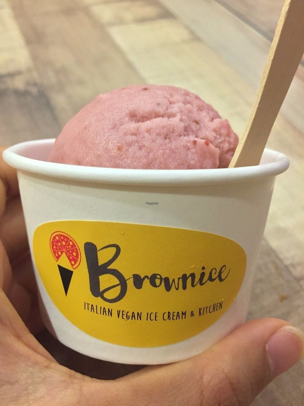 "Photo of Brownice Italian Bistro  by <a href=""/members/profile/caitjoy"">caitjoy</a> <br/>Strawberry gelato <br/> April 9, 2017  - <a href='/contact/abuse/image/59333/246306'>Report</a>"