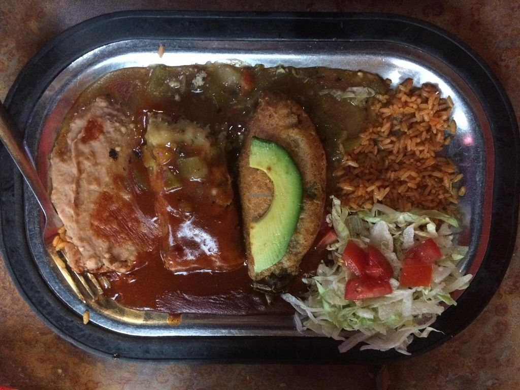 """Photo of La Salita  by <a href=""""/members/profile/nephliim"""">nephliim</a> <br/>Chilli Relleno and a tamale <br/> July 17, 2015  - <a href='/contact/abuse/image/59336/109725'>Report</a>"""