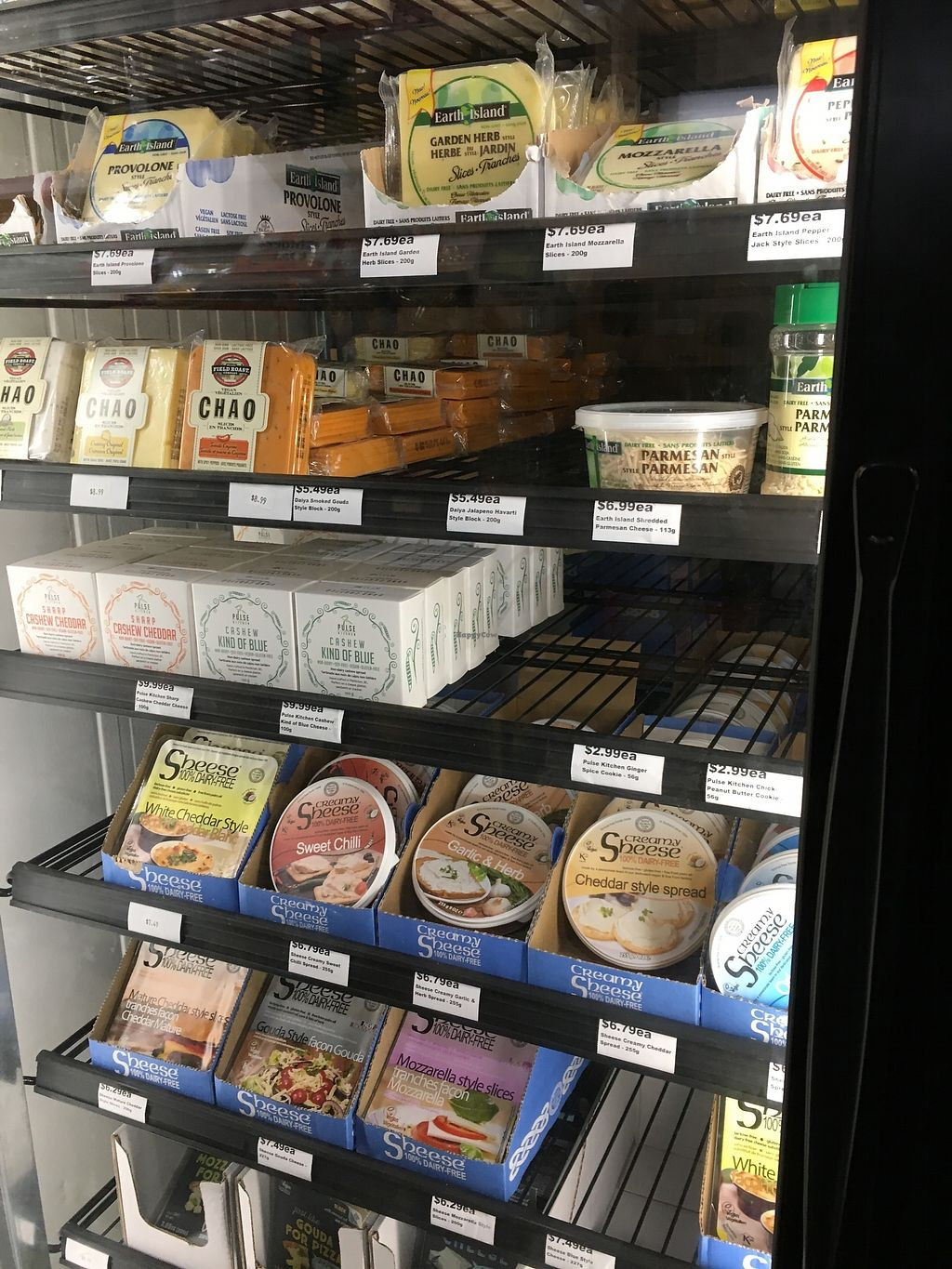 """Photo of Vegan Supply  by <a href=""""/members/profile/vegan%20frog"""">vegan frog</a> <br/>Vegan cheezes  <br/> August 7, 2017  - <a href='/contact/abuse/image/59337/289959'>Report</a>"""