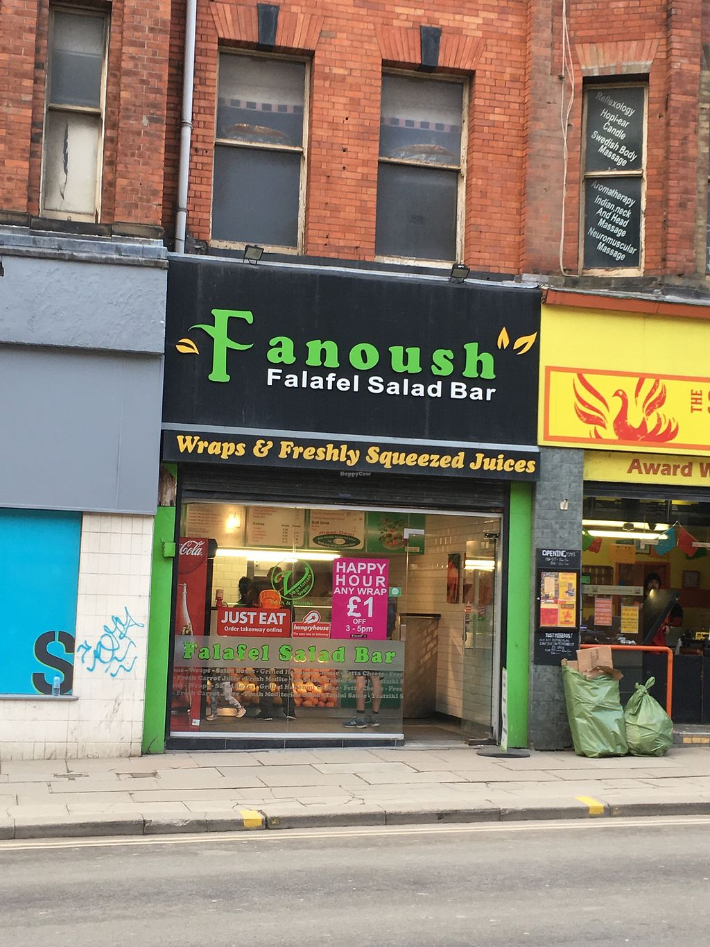 "Photo of Fanoush Salad Bar - Pinstone St  by <a href=""/members/profile/hack_man"">hack_man</a> <br/>Exterior <br/> March 22, 2018  - <a href='/contact/abuse/image/59348/374434'>Report</a>"